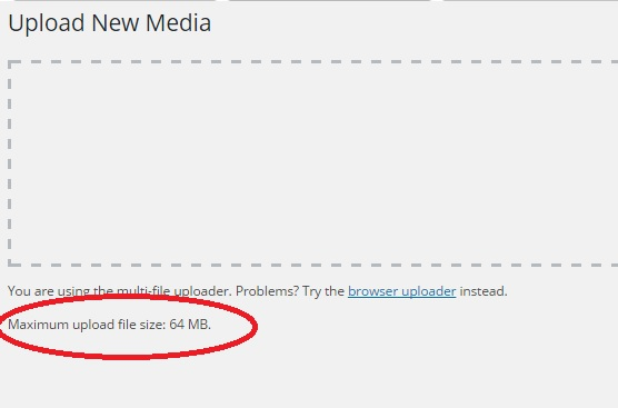 Exceeds The Maximum Upload Size For This Site
