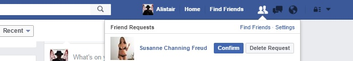 Fake Facebook Friend Requests Susanne Channing Freud