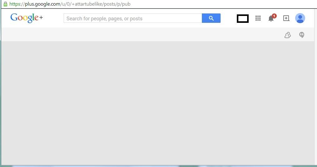 Like4Like Google+ Shares Blank Screen