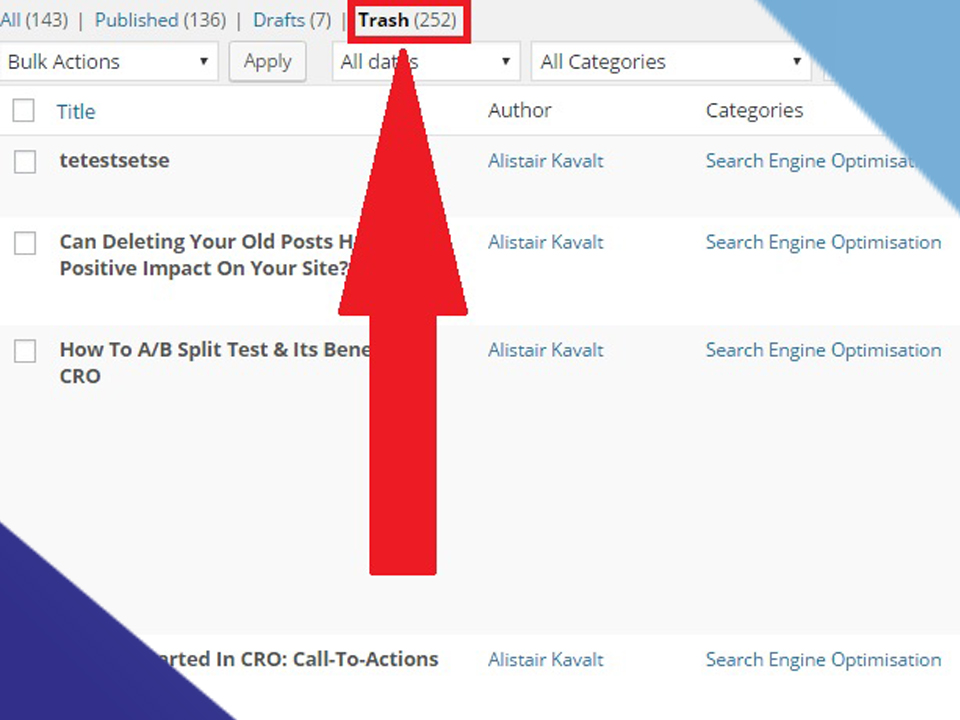 Removing Articles To Improve Search Engine Rankings