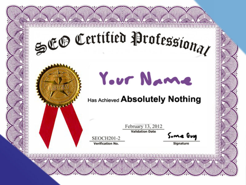 SEO Certification Article