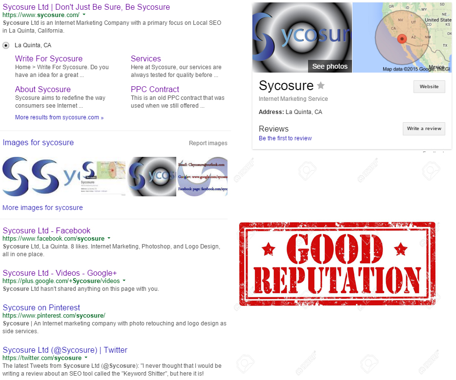 Search engine reputation management Sycosure