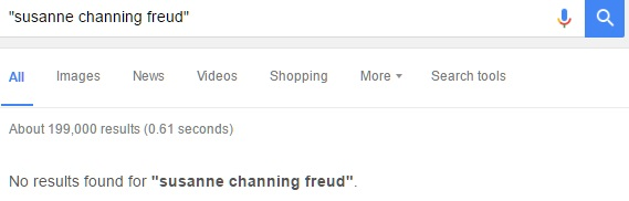 Susanne Channing Freud Google