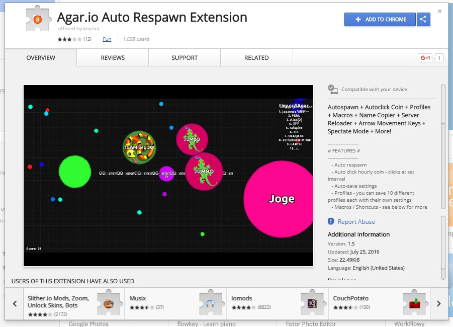 Agario Bots Extension